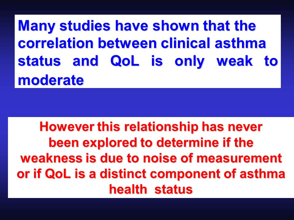 Many studies have shown that the correlation between clinical asthma