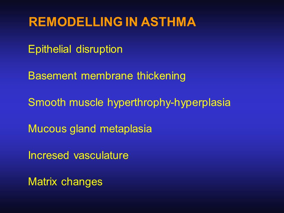 REMODELLING IN ASTHMA Epithelial disruption