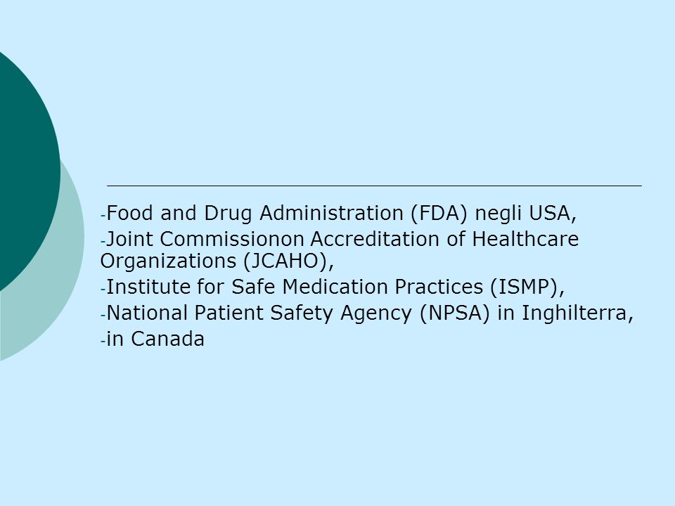 Food and Drug Administration (FDA) negli USA,