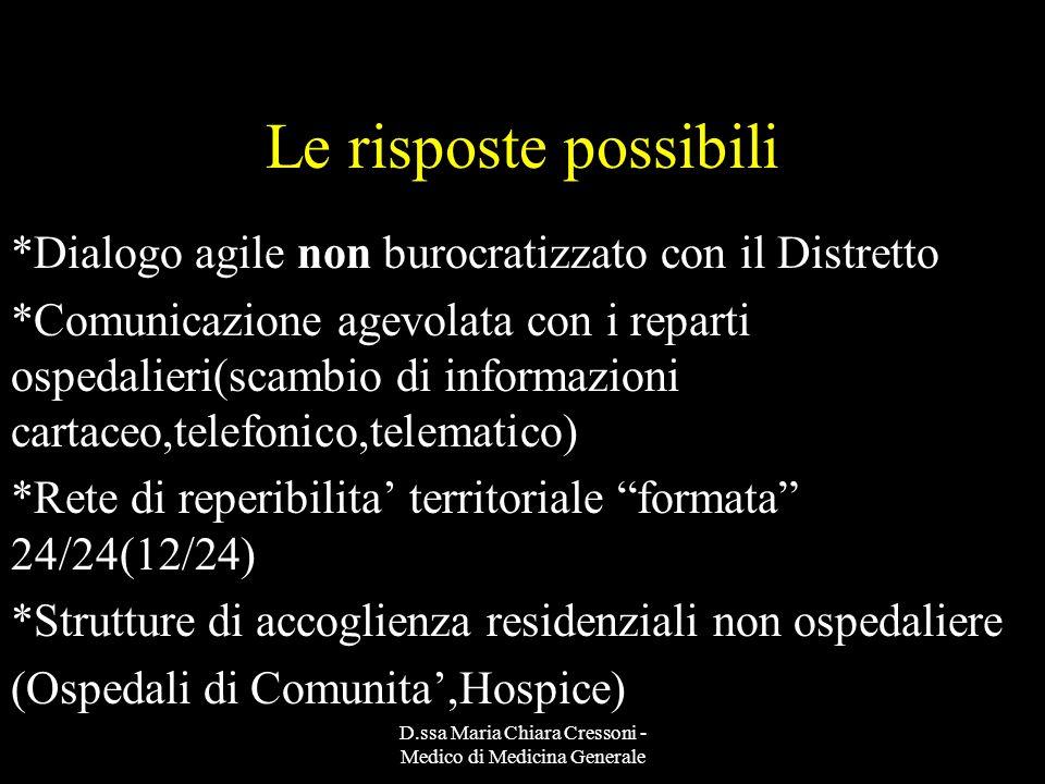 D.ssa Maria Chiara Cressoni - Medico di Medicina Generale