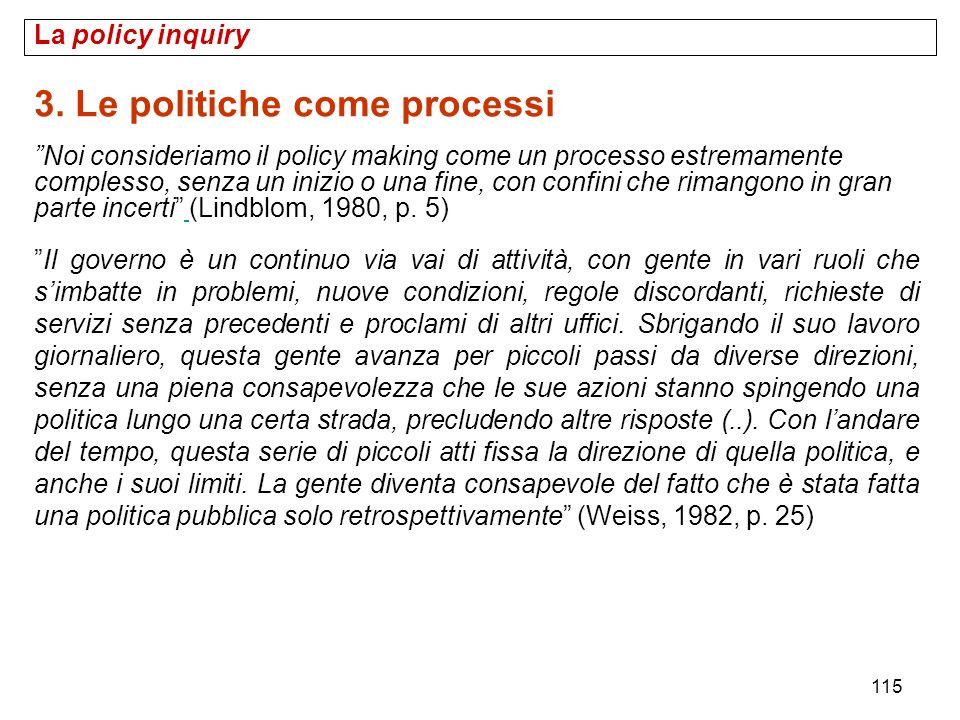 3. Le politiche come processi