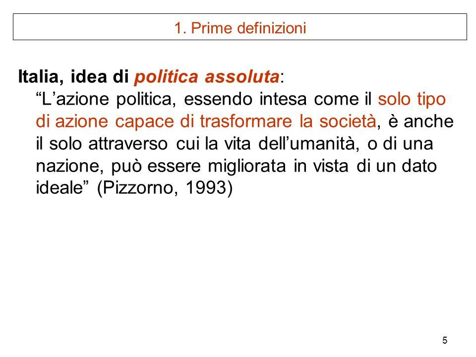Italia, idea di politica assoluta: