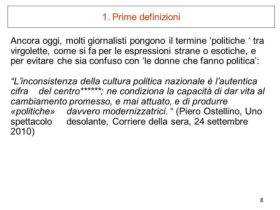 1. Prime definizioni
