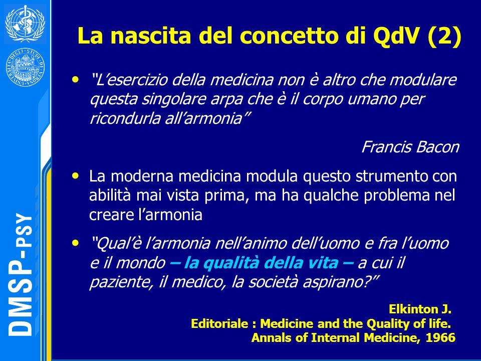 La nascita del concetto di QdV (2)