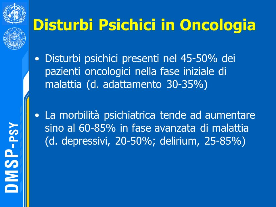 Disturbi Psichici in Oncologia