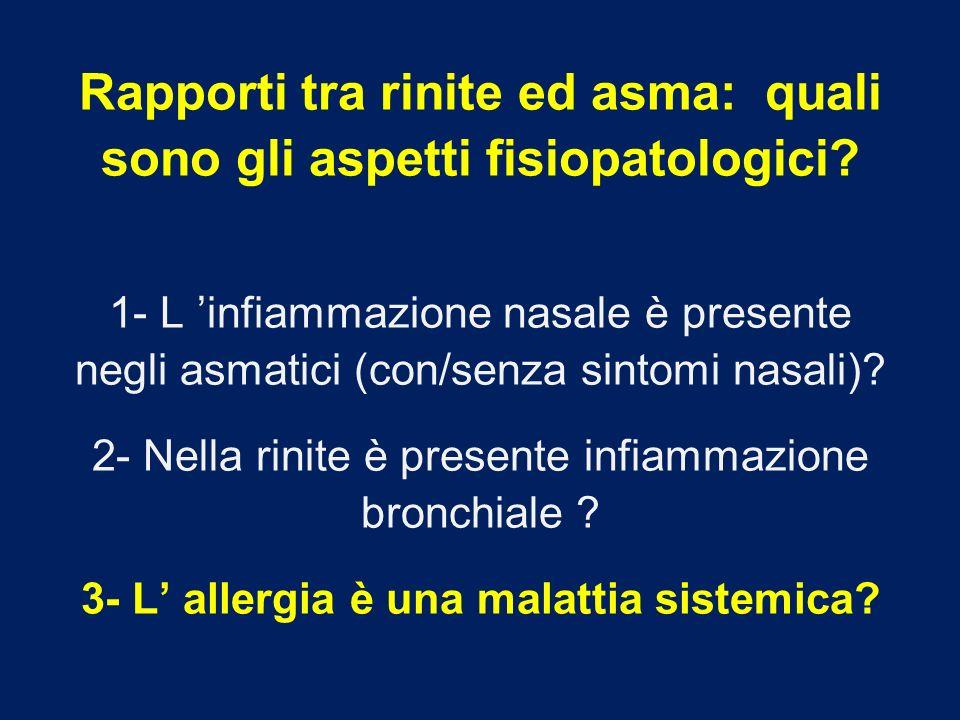 Rapporti tra rinite ed asma: quali sono gli aspetti fisiopatologici