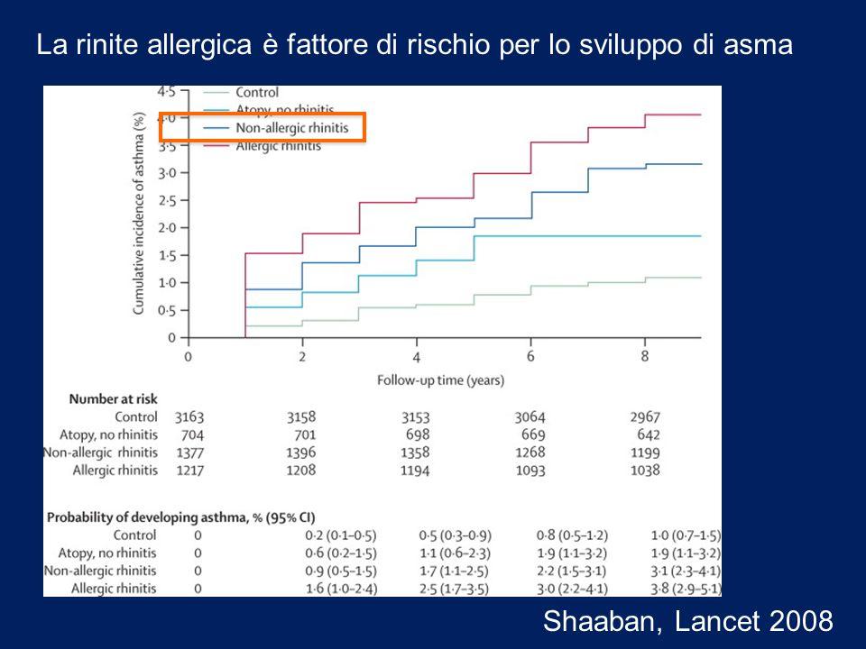 La rinite allergica è fattore di rischio per lo sviluppo di asma