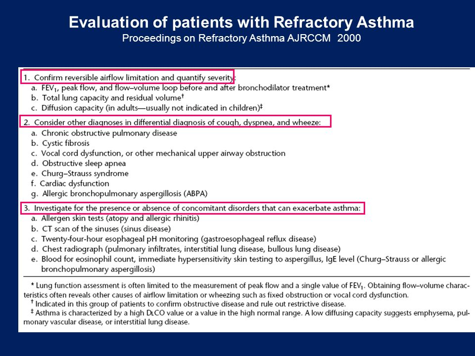 Evaluation of patients with Refractory Asthma