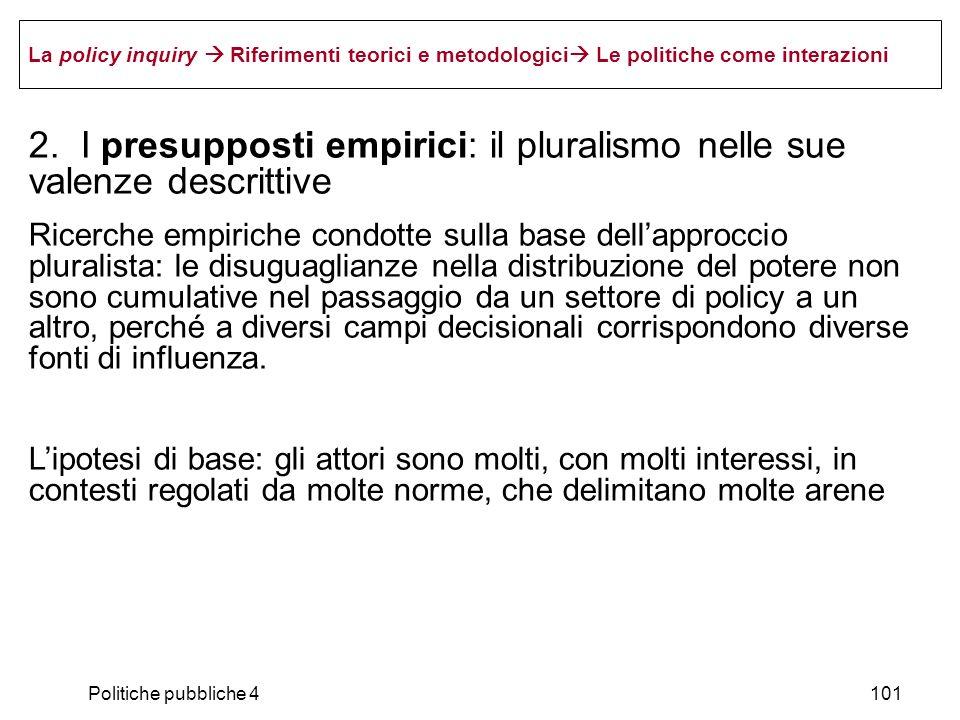2. I presupposti empirici: il pluralismo nelle sue valenze descrittive