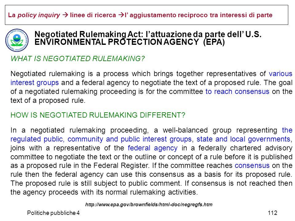 La policy inquiry  linee di ricerca l' aggiustamento reciproco tra interessi di parte