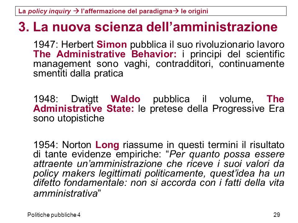 3. La nuova scienza dell'amministrazione