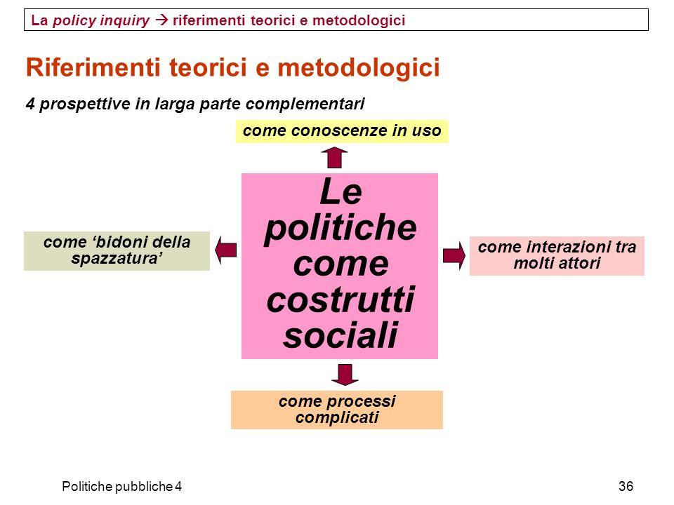 Le politiche come costrutti sociali