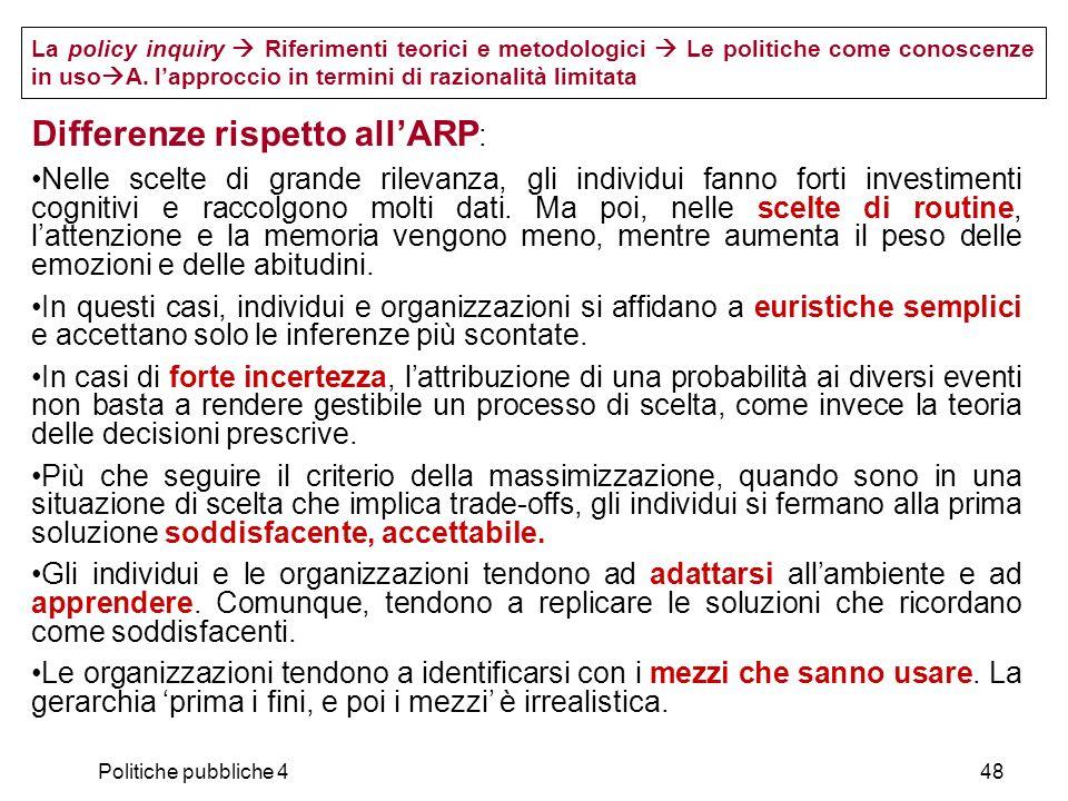 Differenze rispetto all'ARP: