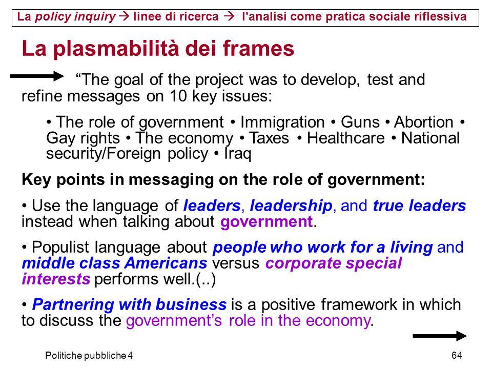 La plasmabilità dei frames