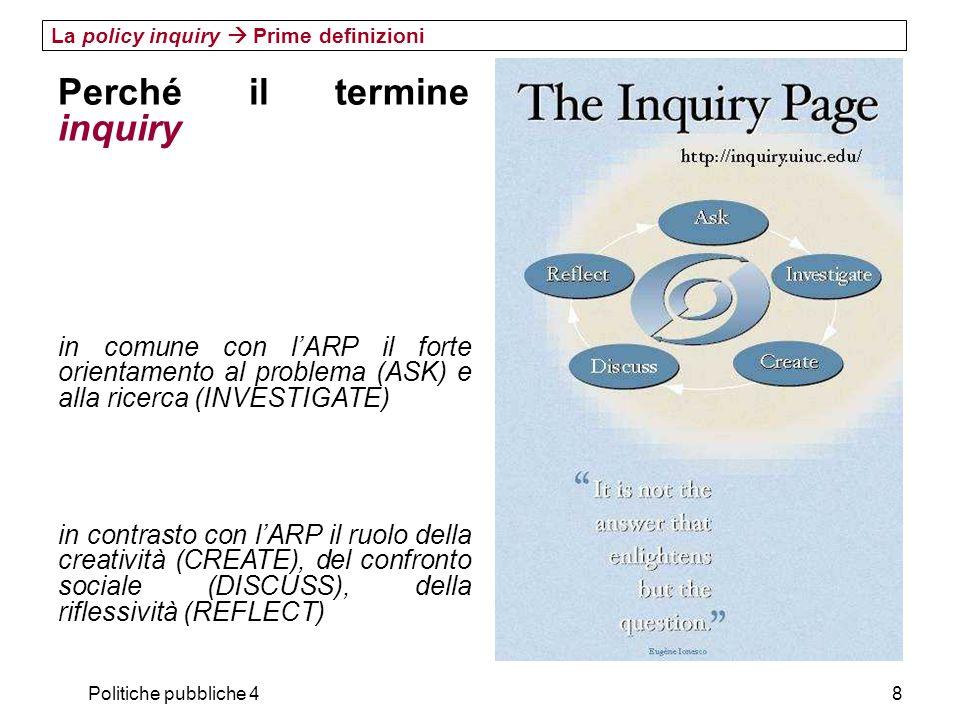 Perché il termine inquiry