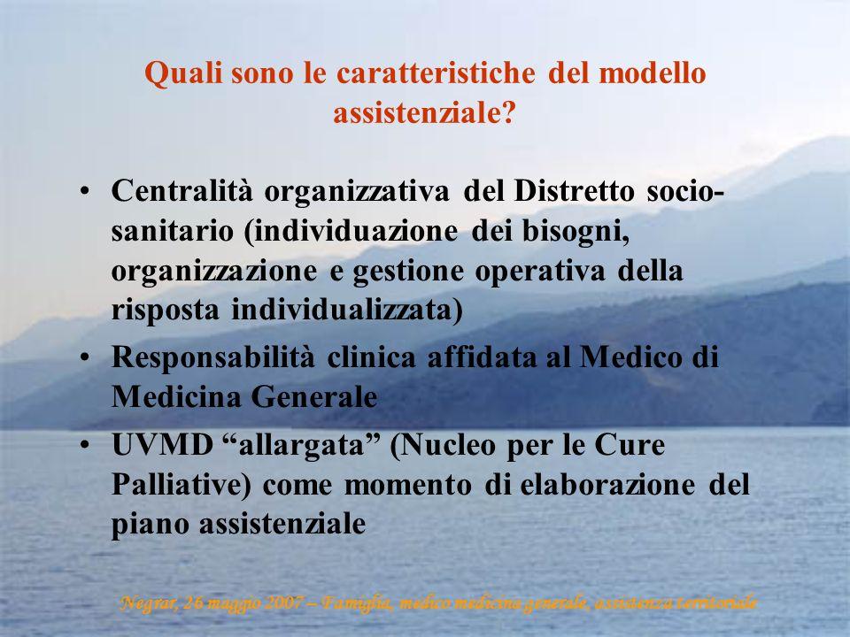 Quali sono le caratteristiche del modello assistenziale