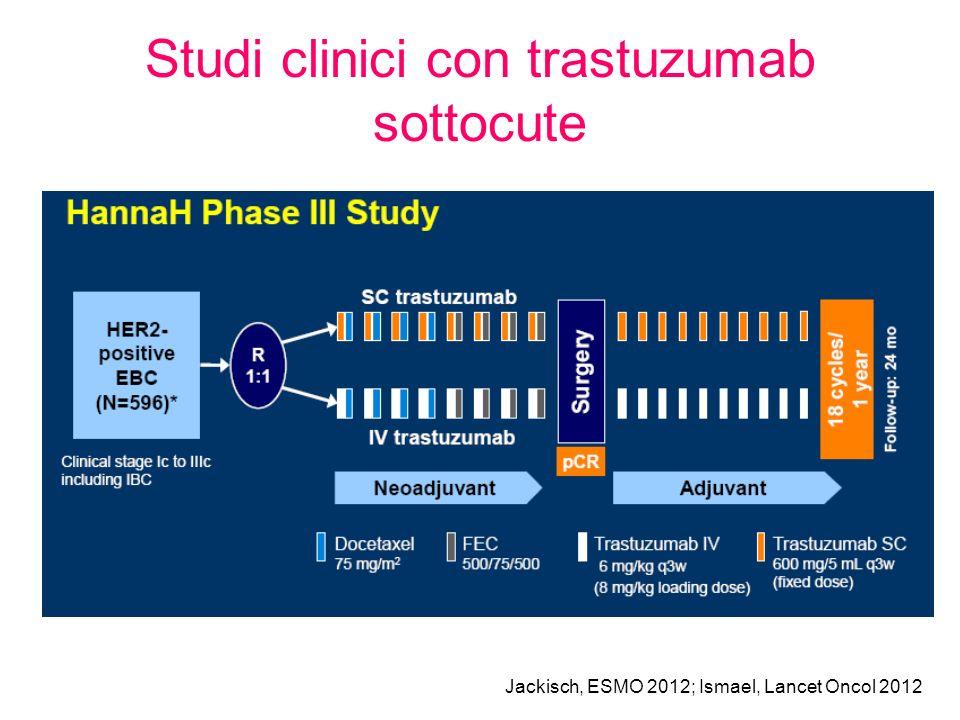 Studi clinici con trastuzumab sottocute