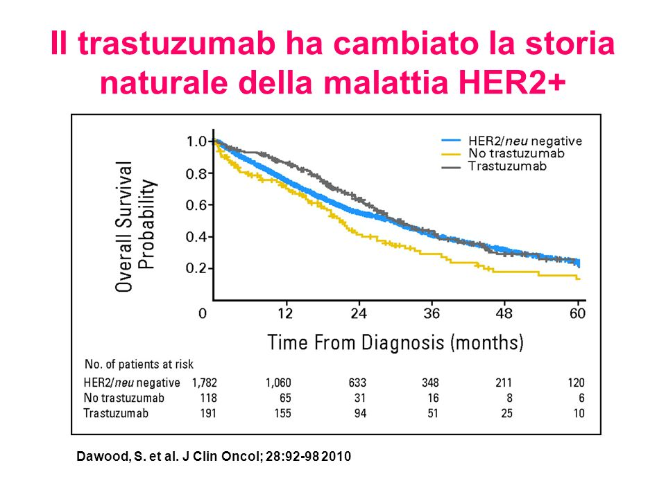 Il trastuzumab ha cambiato la storia naturale della malattia HER2+