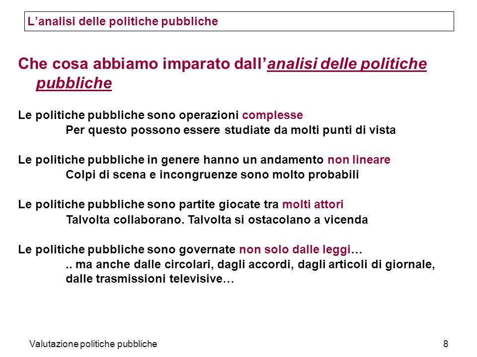 L'analisi delle politiche pubbliche