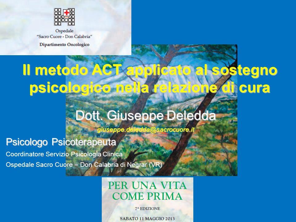 Il metodo ACT applicato al sostegno psicologico nella relazione di cura