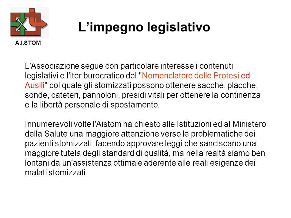 L'impegno legislativo