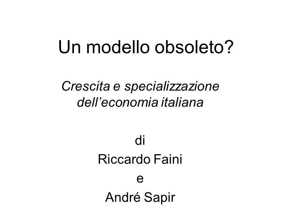 Crescita e specializzazione dell'economia italiana