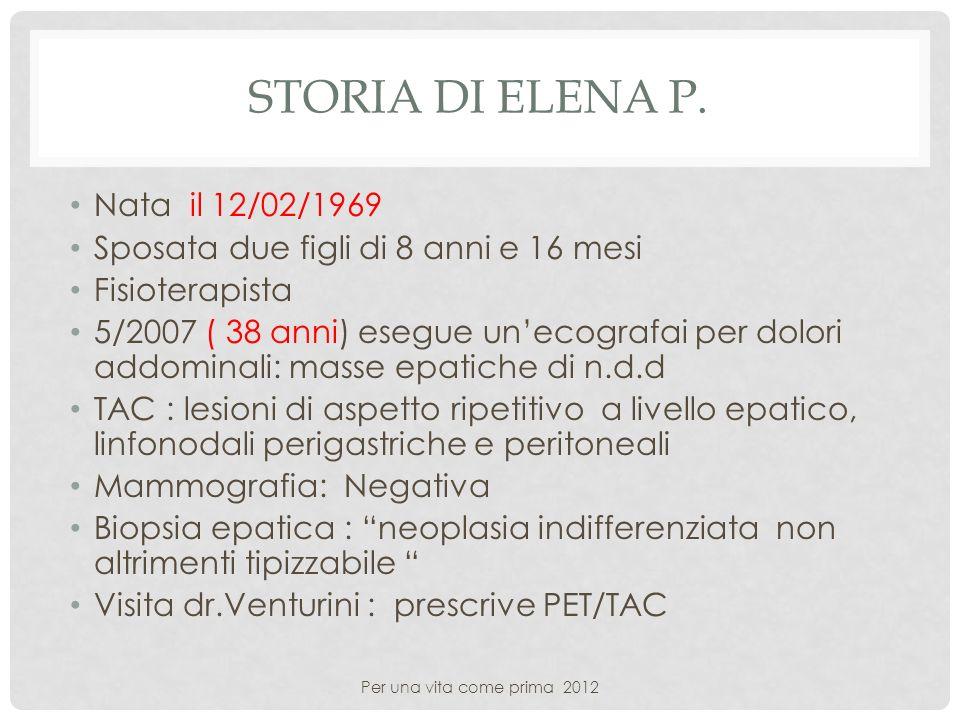 Storia di Elena P. Nata il 12/02/1969