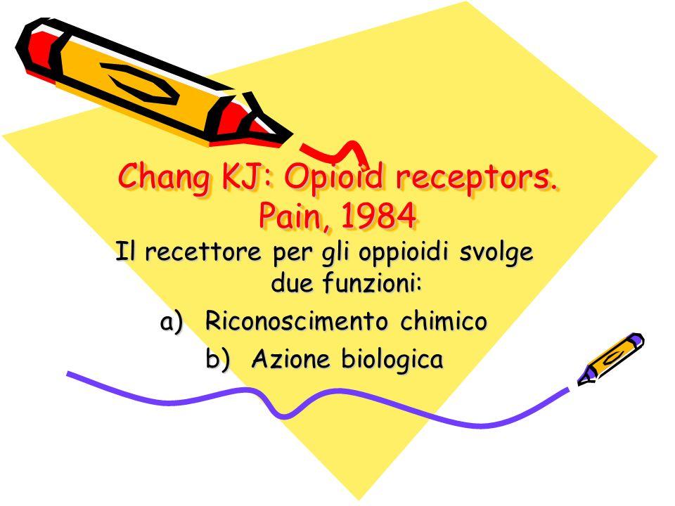 Chang KJ: Opioid receptors. Pain, 1984