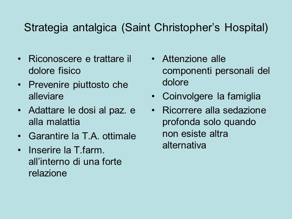 Strategia antalgica (Saint Christopher's Hospital)