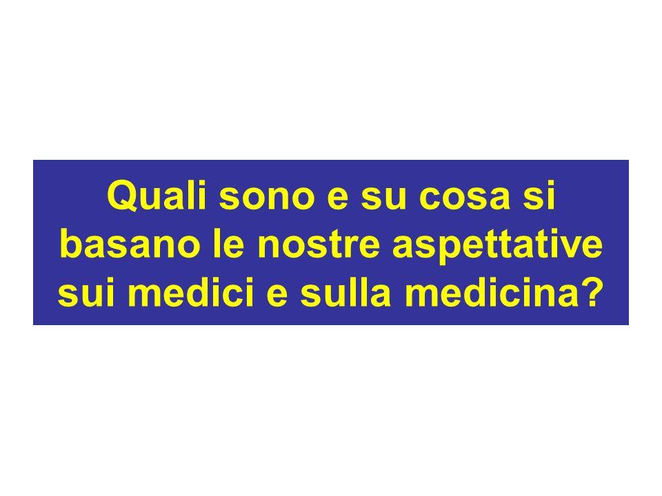 Quali sono e su cosa si basano le nostre aspettative sui medici e sulla medicina