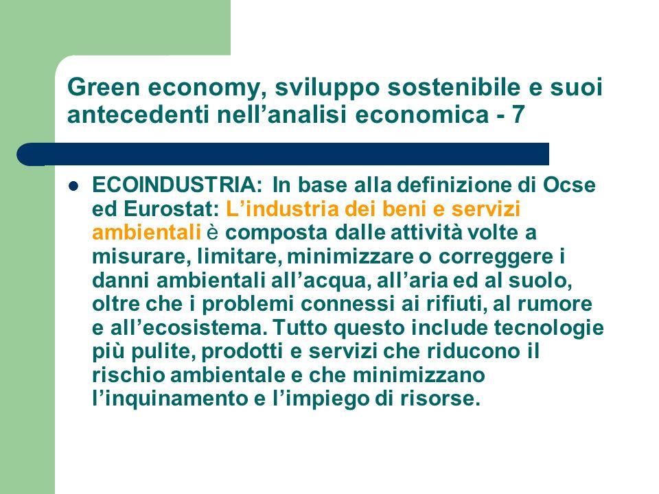 Green economy, sviluppo sostenibile e suoi antecedenti nell'analisi economica - 7