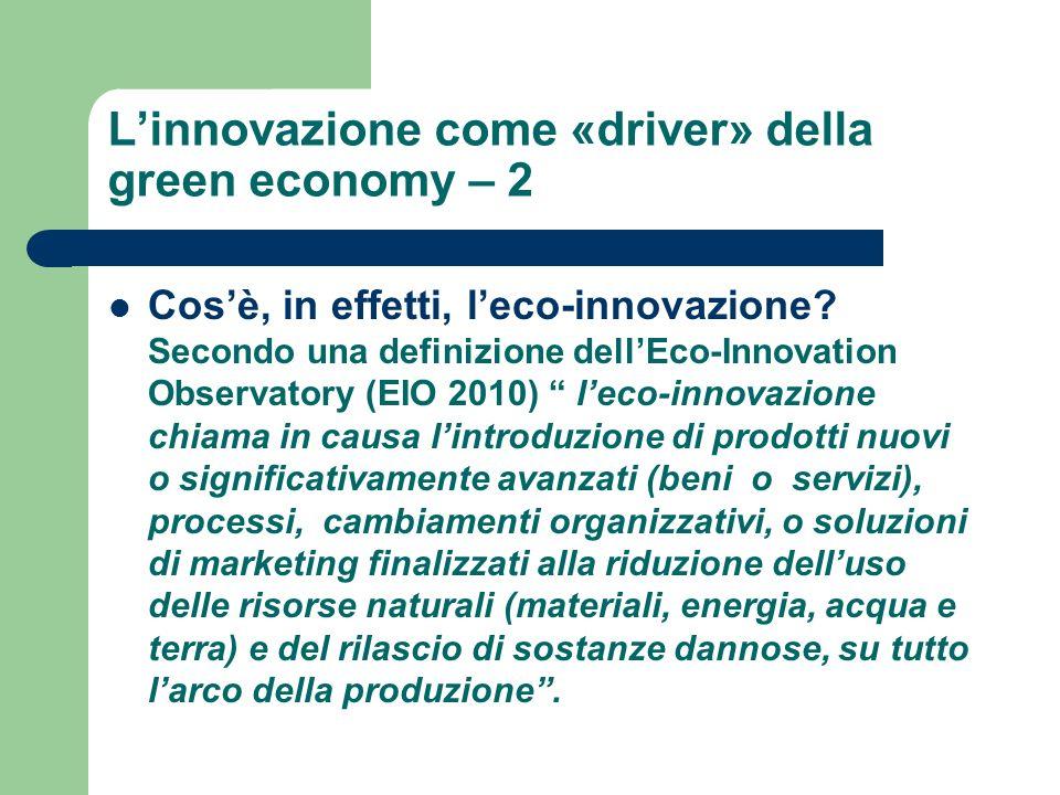 L'innovazione come «driver» della green economy – 2