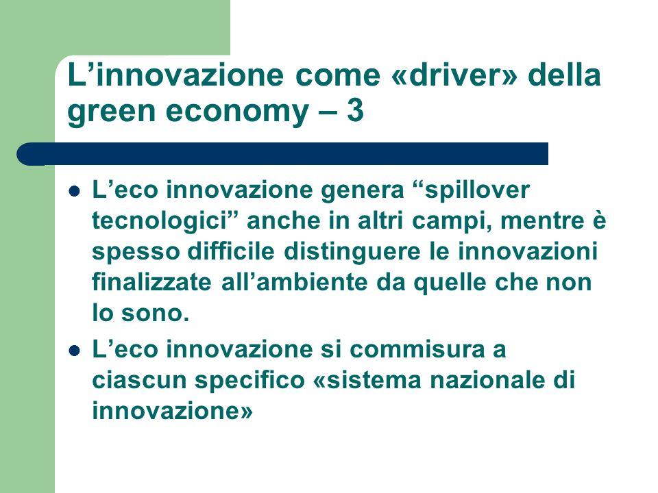 L'innovazione come «driver» della green economy – 3