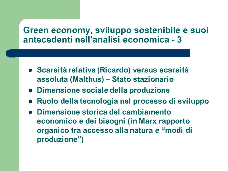 Green economy, sviluppo sostenibile e suoi antecedenti nell'analisi economica - 3