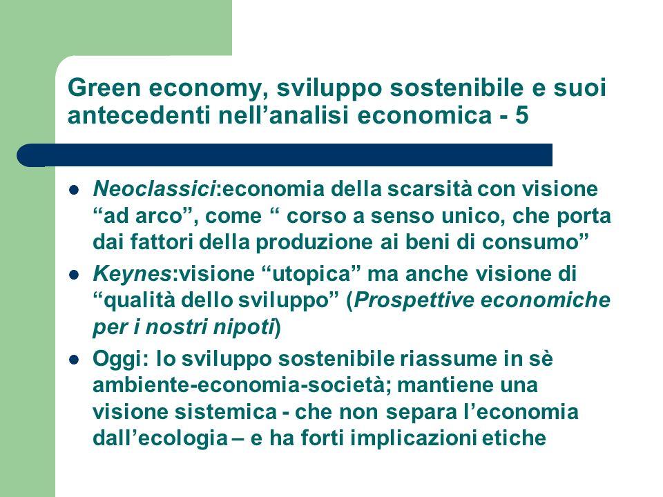 Green economy, sviluppo sostenibile e suoi antecedenti nell'analisi economica - 5