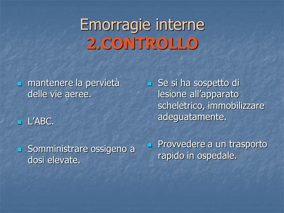 Emorragie interne 2.CONTROLLO