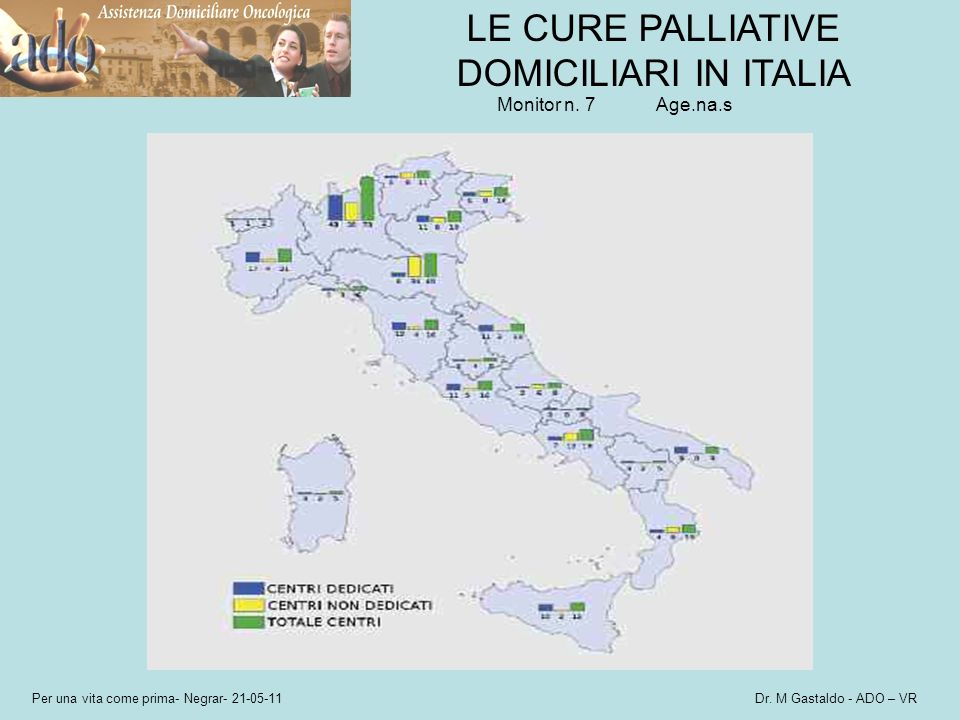 LE CURE PALLIATIVE DOMICILIARI IN ITALIA Monitor n. 7 Age.na.s