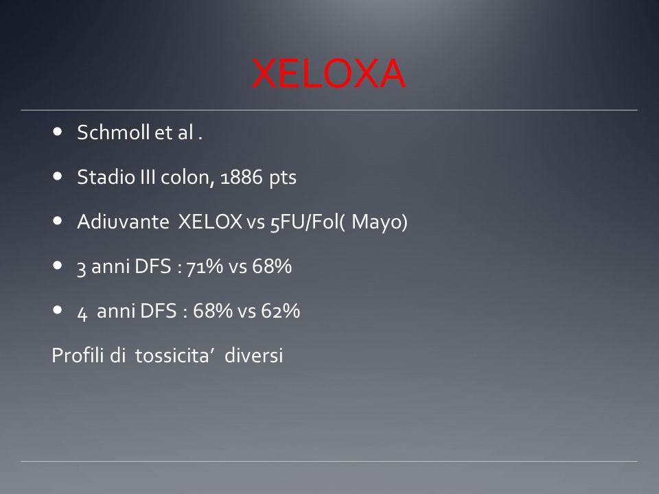 XELOXA Schmoll et al . Stadio III colon, 1886 pts