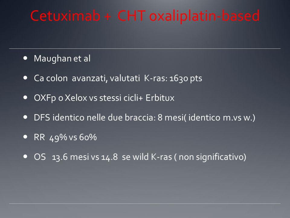 Cetuximab + CHT oxaliplatin-based