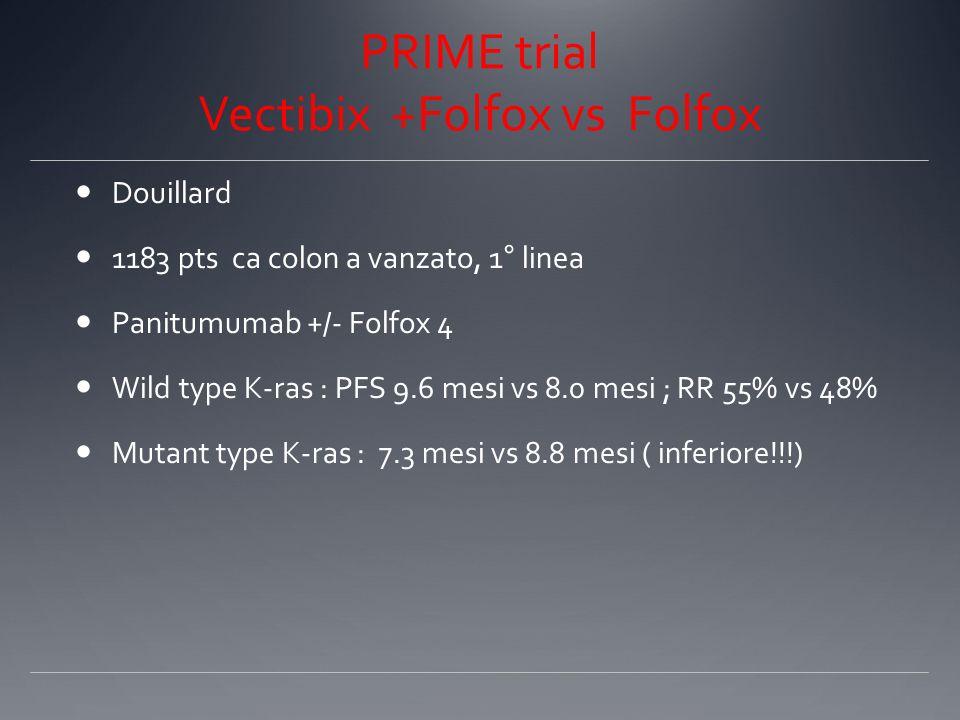 PRIME trial Vectibix +Folfox vs Folfox