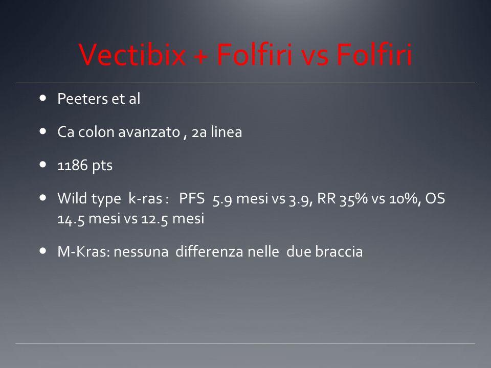 Vectibix + Folfiri vs Folfiri