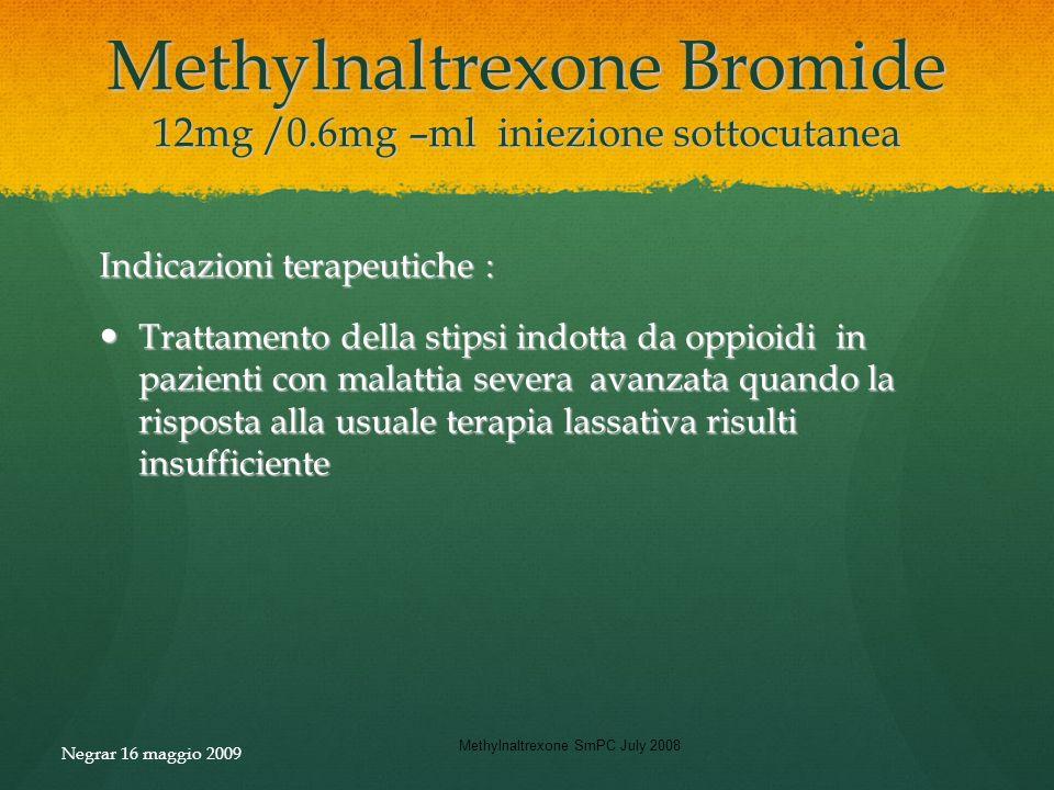 Methylnaltrexone Bromide 12mg /0.6mg –ml iniezione sottocutanea