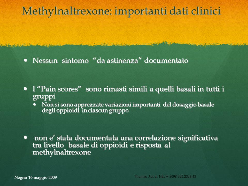 Methylnaltrexone: importanti dati clinici