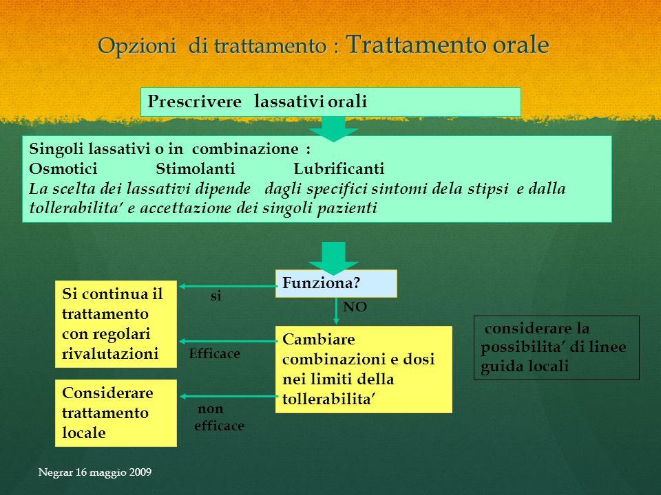 Opzioni di trattamento : Trattamento orale