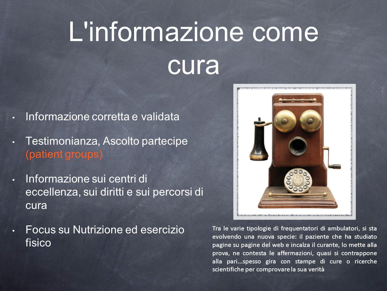 L informazione come cura