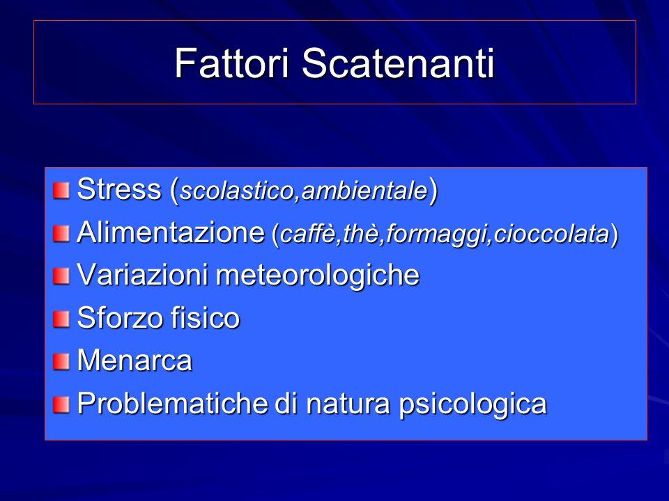 Fattori Scatenanti Stress (scolastico,ambientale)