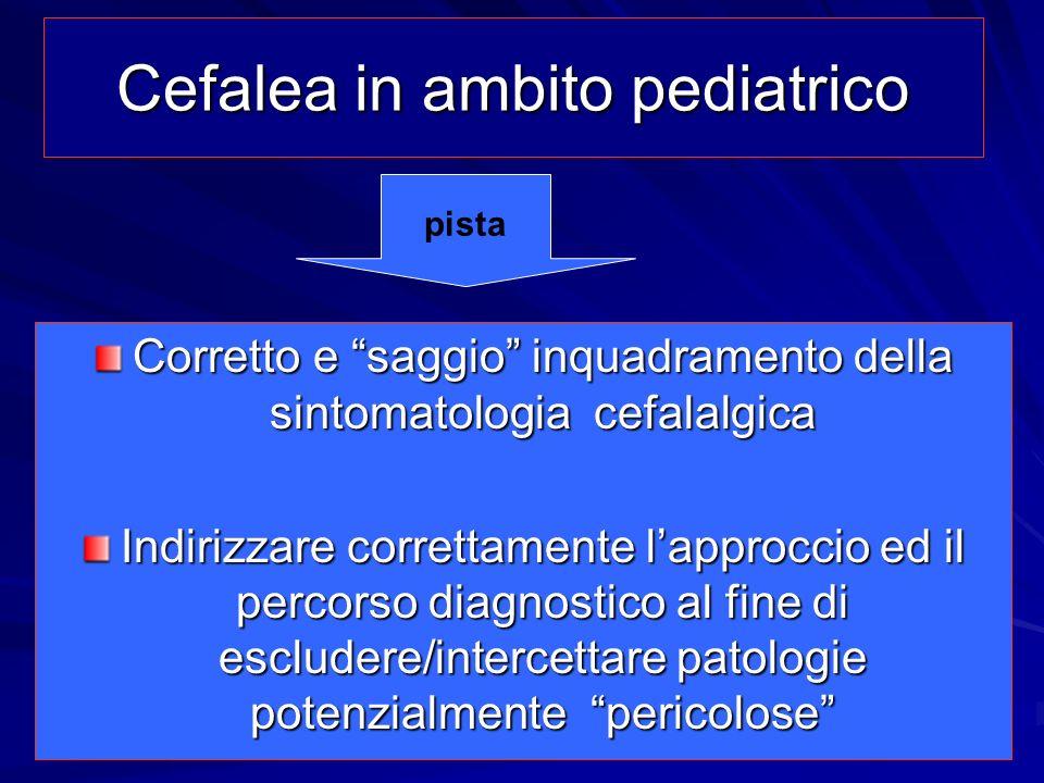 Cefalea in ambito pediatrico
