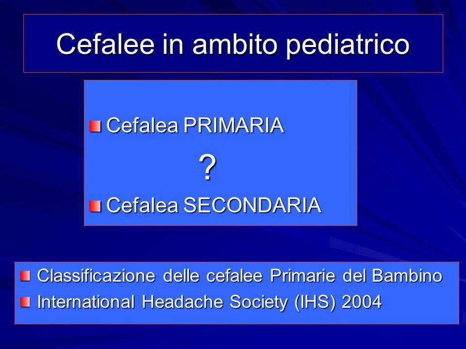 Cefalee in ambito pediatrico