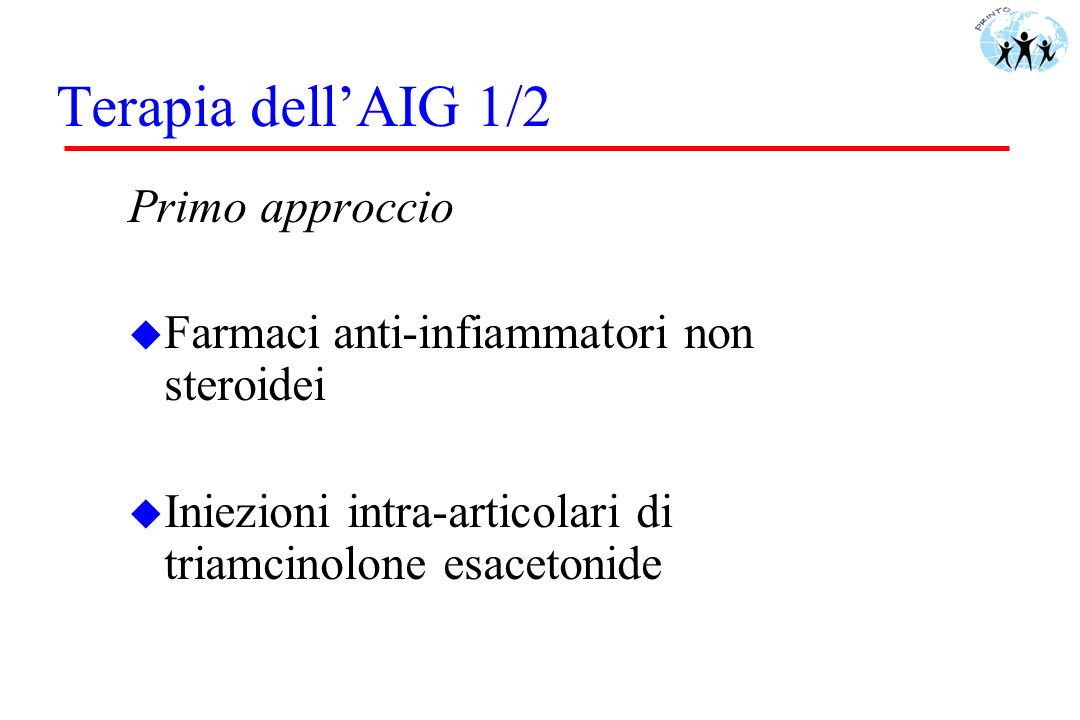 Terapia dell'AIG 1/2 Primo approccio