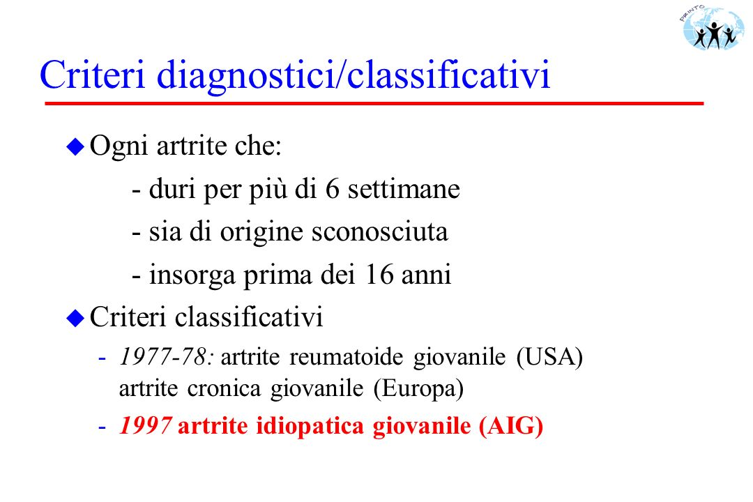 Criteri diagnostici/classificativi